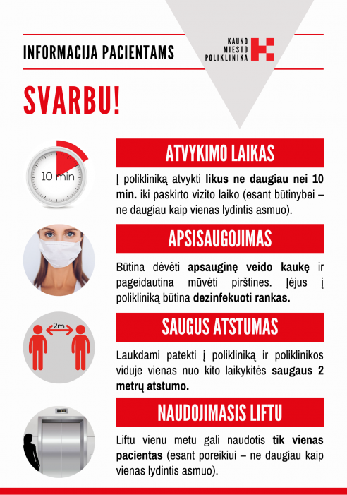 informacinis plakatas pacientams ant duru 05.06